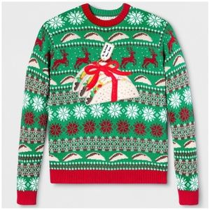 Other - NWT Green Red Taco Ugly Christmas Sweater Cotton